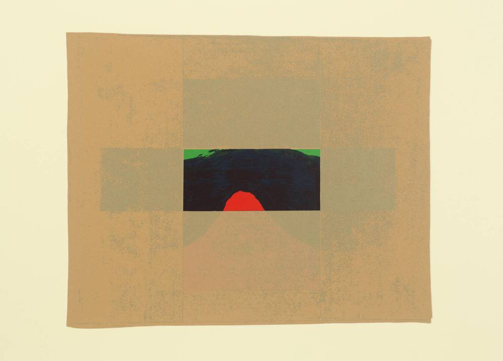 Howard Hodgkin, b. 1932,  Indian View E , screenprint on paper, 1971