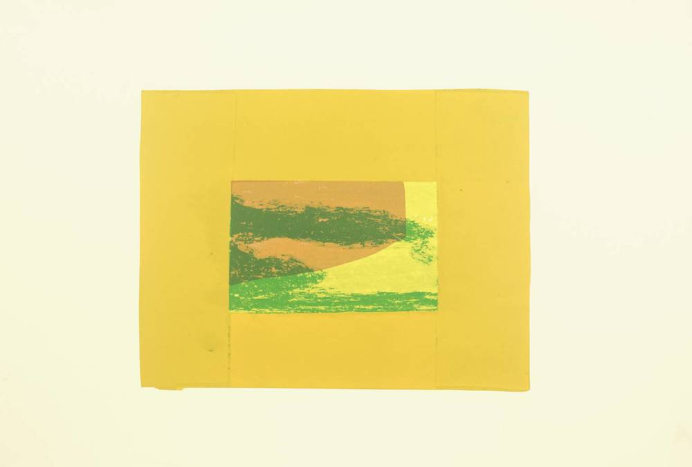 Howard Hodgkin, b. 1932,  Indian View F , screenprint on paper, 1971