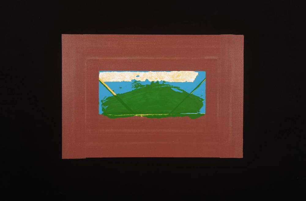 Howard Hodgkin, b. 1932,  Indian View G , screenprint on paper, 1971