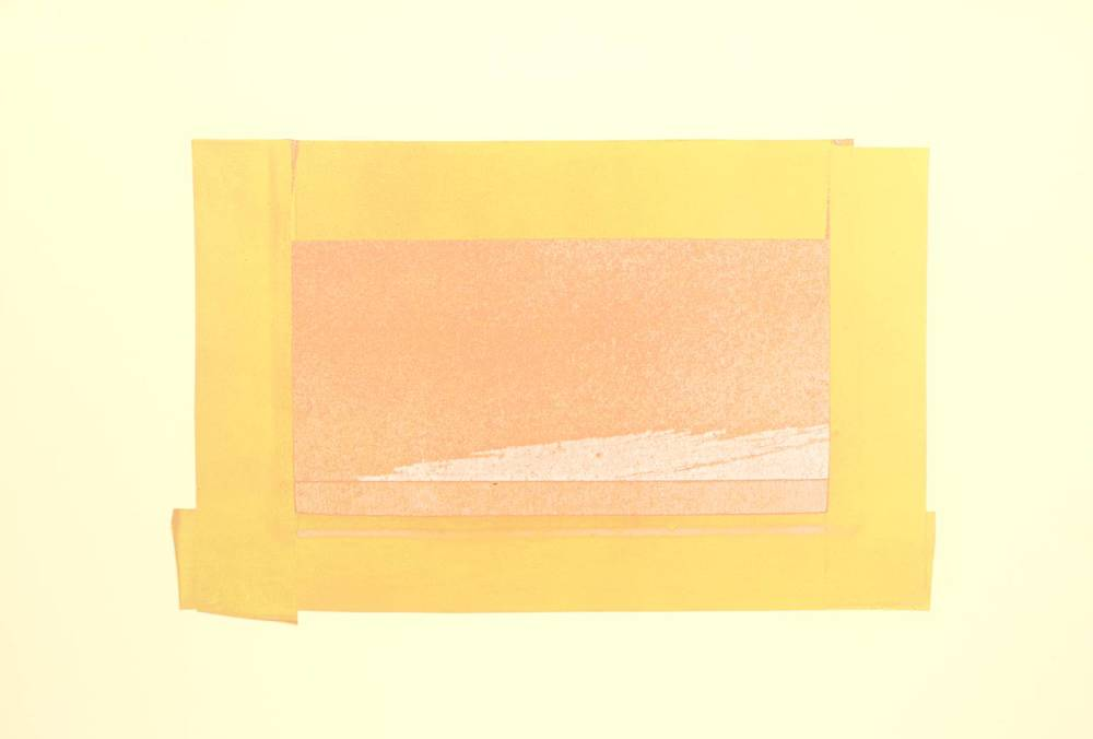 Howard Hodgkin, b. 1932,  Indian View H , screenprint on paper, 1971