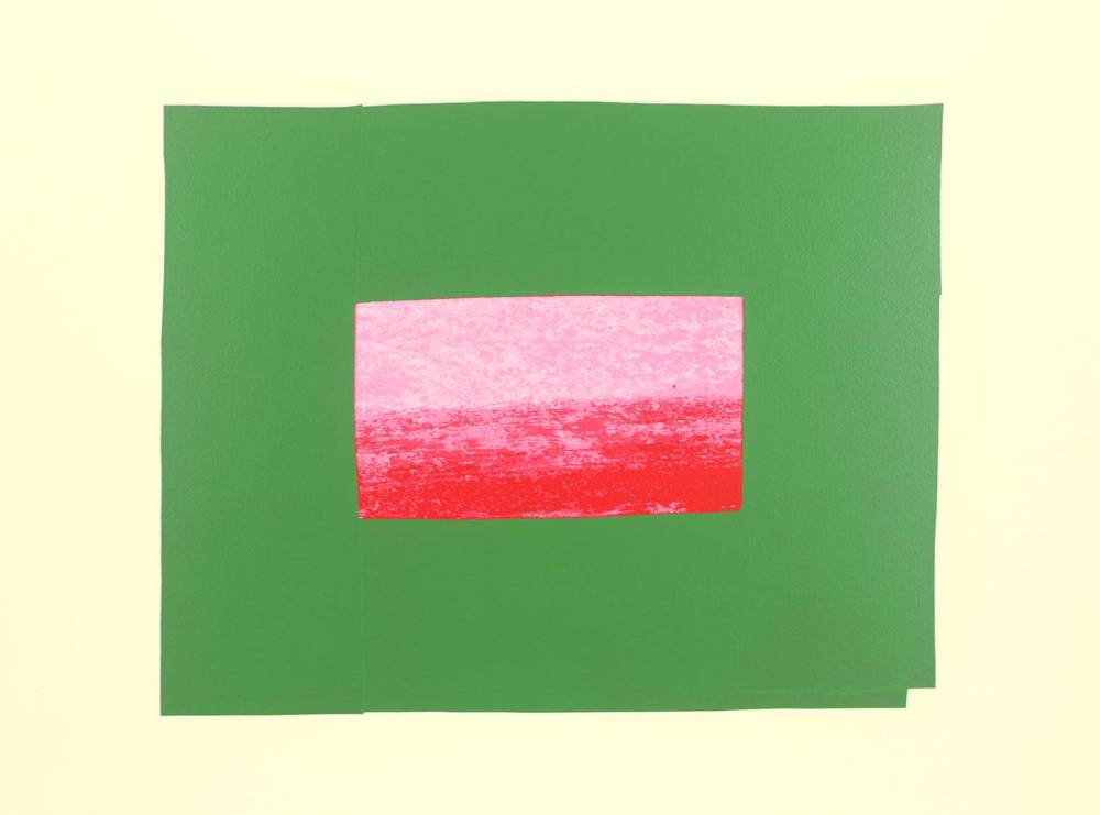 Howard Hodgkin, b. 1932,  Indian View I , screenprint on paper, 1971