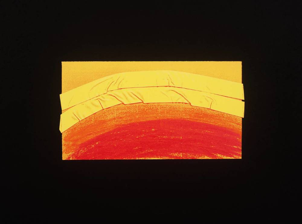 Howard Hodgkin, b. 1932,  Indian View J , screenprint on paper, 1971
