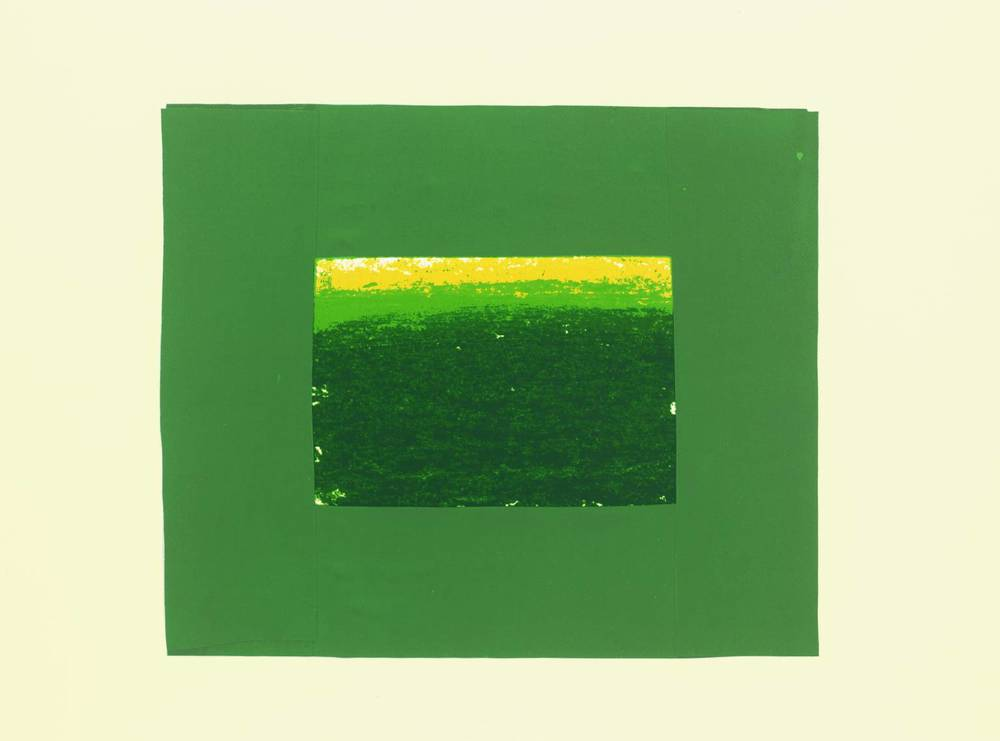 Howard Hodgkin, b. 1932,  Indian View K , screenprint on paper, 1971