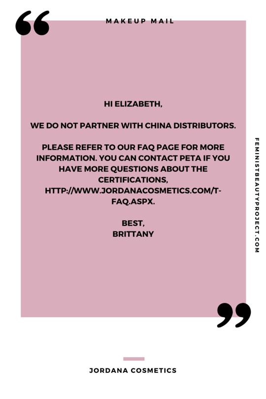 MAKEUP MAIL: Jordana Cosmetics — The Feminist Beauty Project