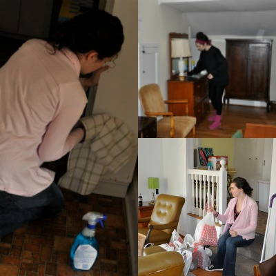 The multi day cleaning process inflicted on my mum and boyfriend upon moving into my first apartment - #whythepinkuggsB
