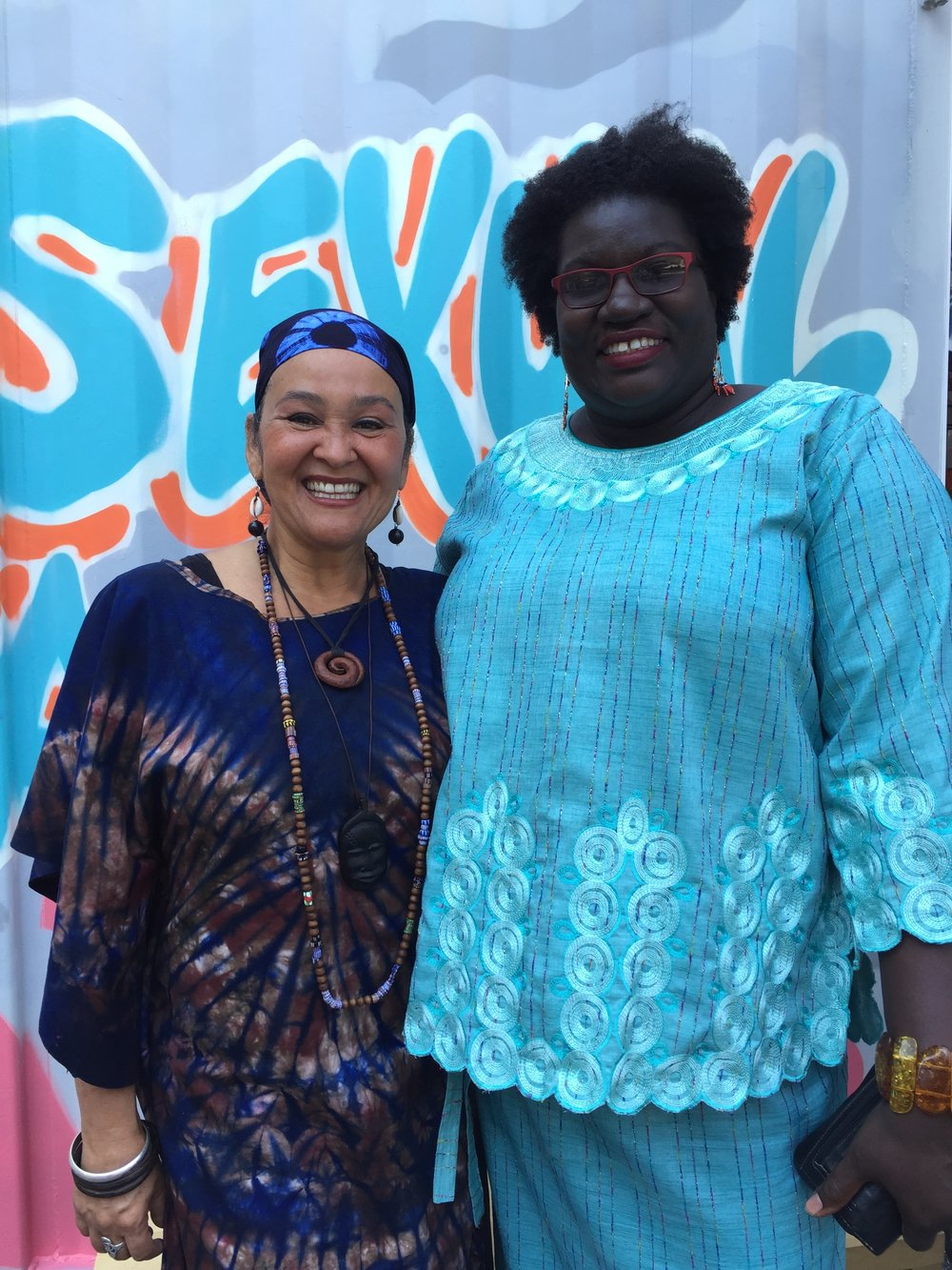 Artists Mosa McNeilly and Apanaki Temitayo Minerve at Sexual Assault: The Roadshow. (Published by  NOW Magazine , September 14, 2016)