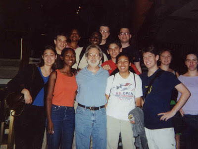 With John Weidman, after a performance of Contact. YPI Urban Retreat 2001.