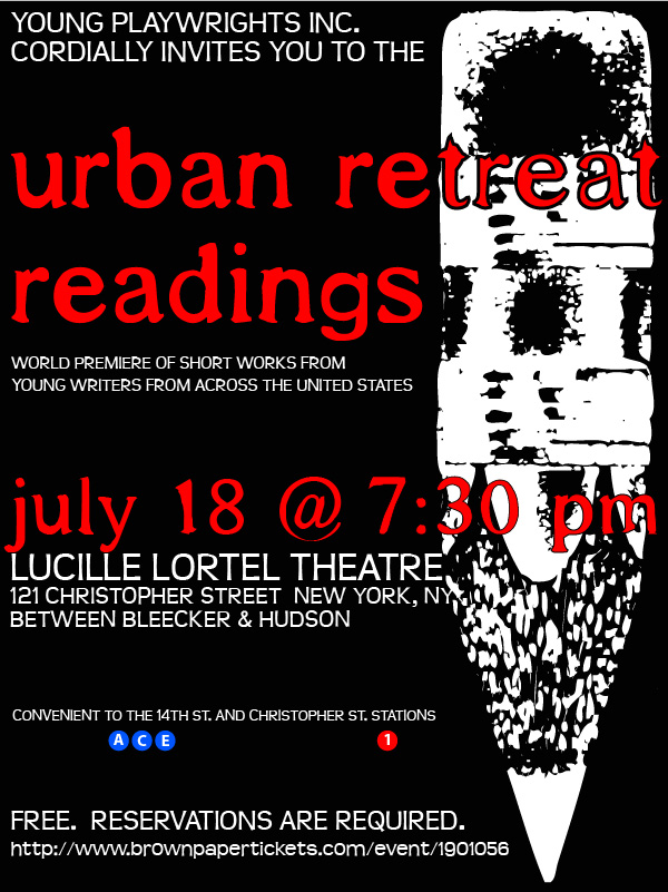 Join us for the 2015 Urban Retreat Readings on Saturday, July 18th.