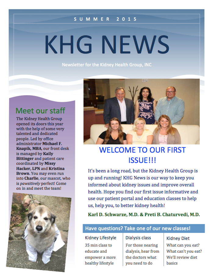 KHG Summer 2015 Newsletter