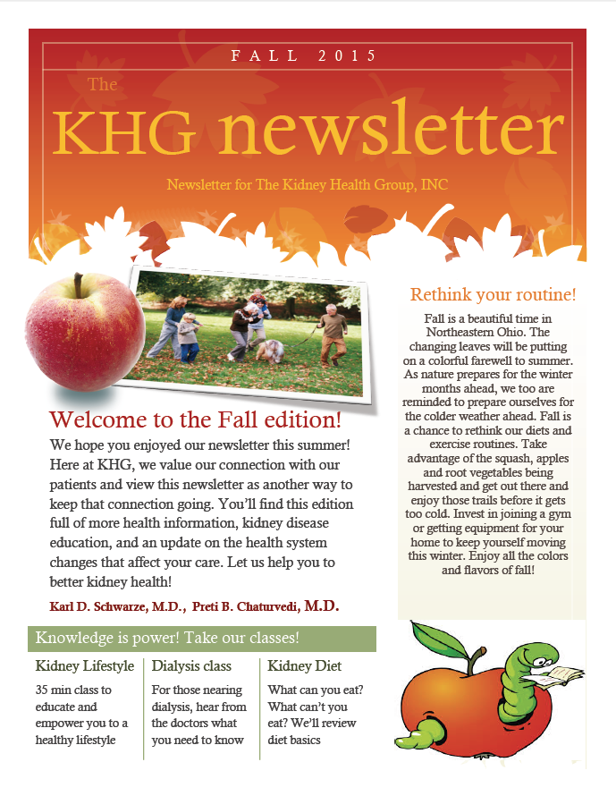 KHG Fall 2015 Newsletter