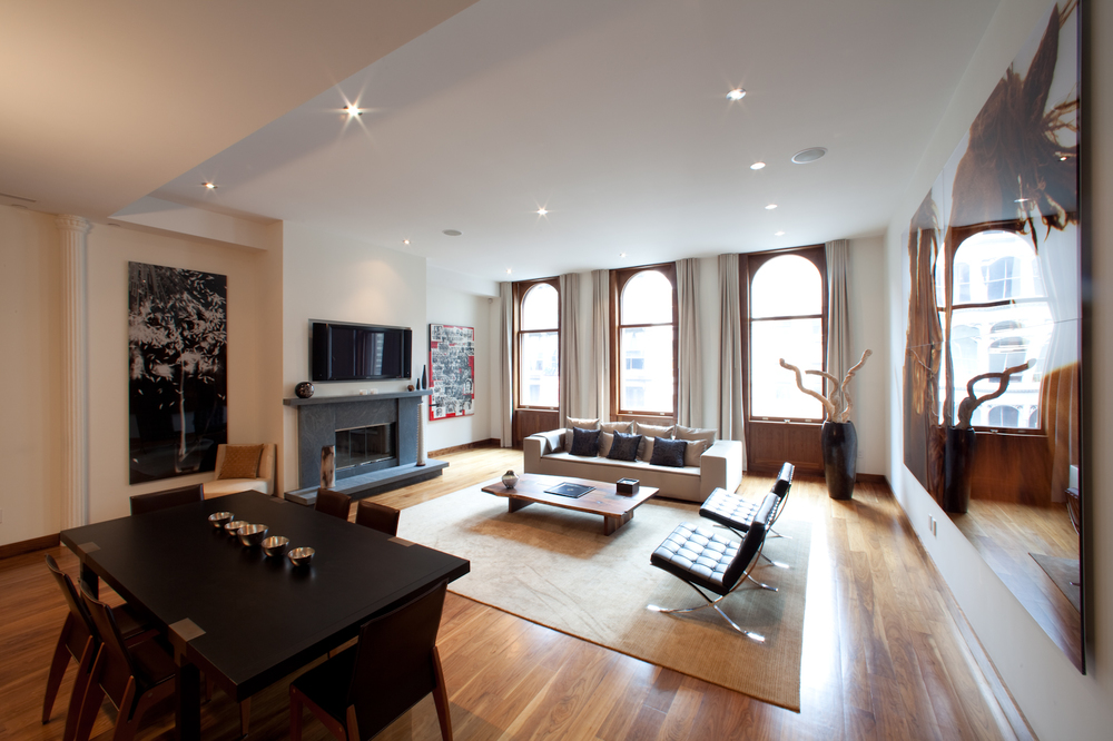 22 Mercer, Soho, Living/Dining Room View