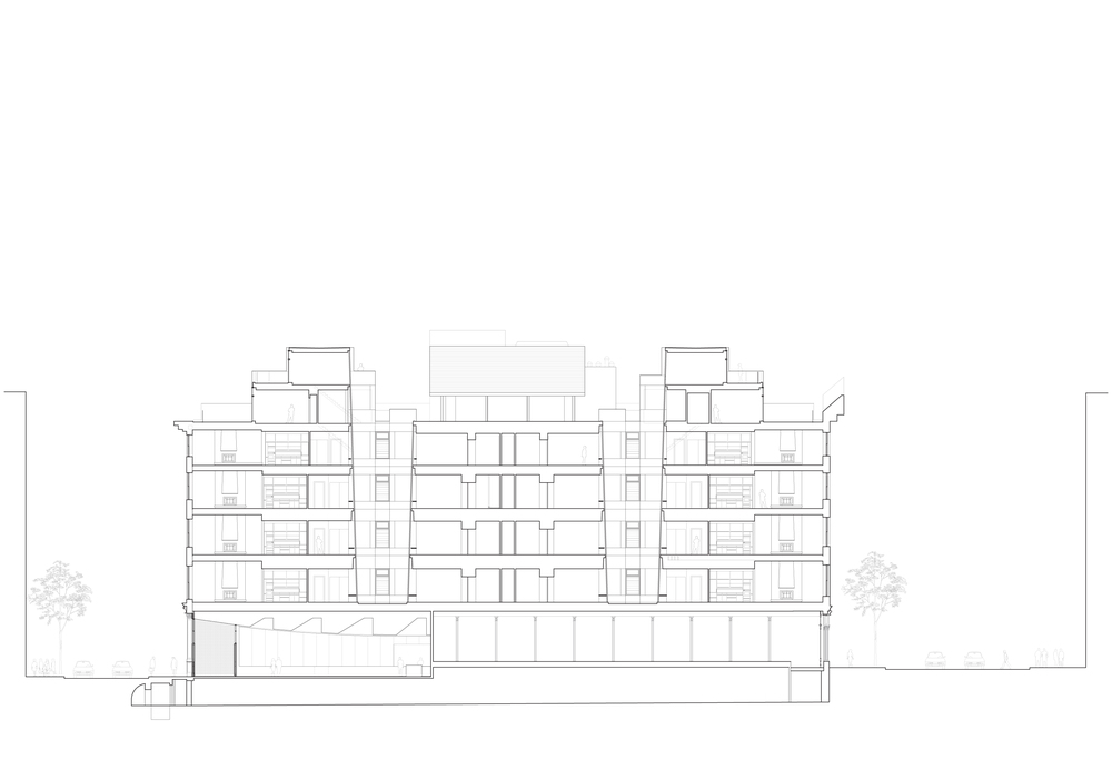 22 Mercer, Soho, Building plan side