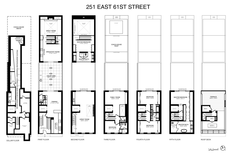251 East 61st Street, Floor Schematics