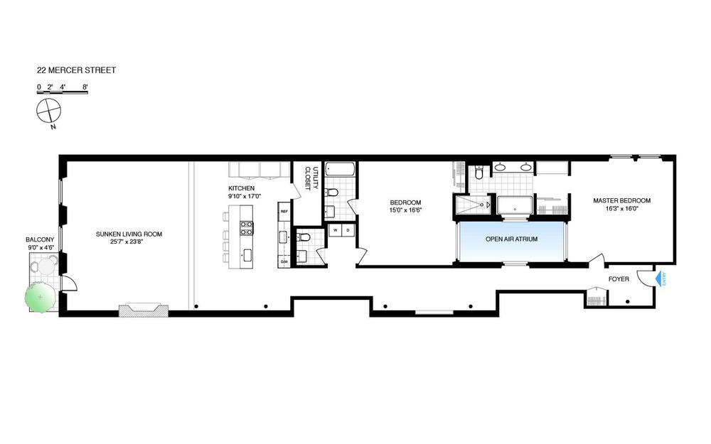 22 Mercer, Soho, Floor Plan