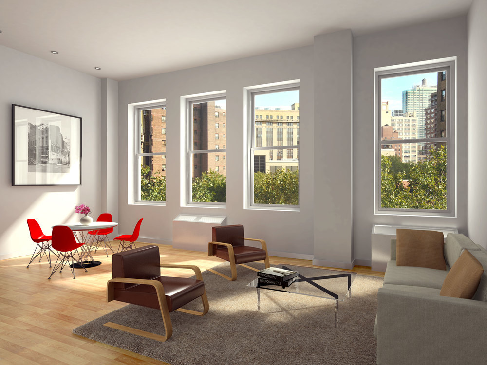 418 West 25th Street, Living Room