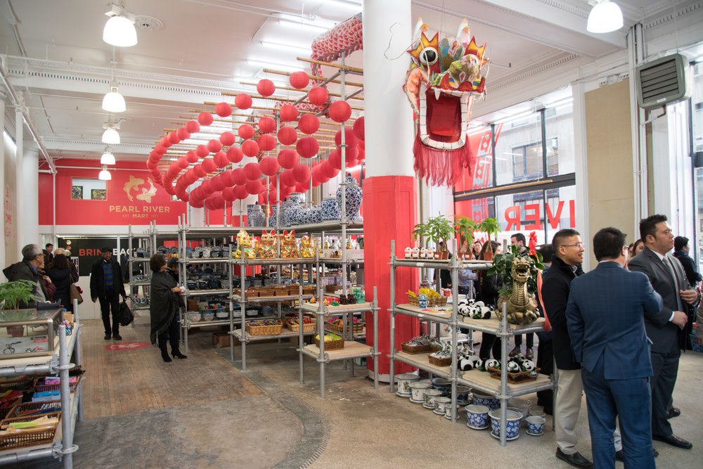 TRA studio architecture, Pearl River Mart, Pop Up, Ribbon Cutting