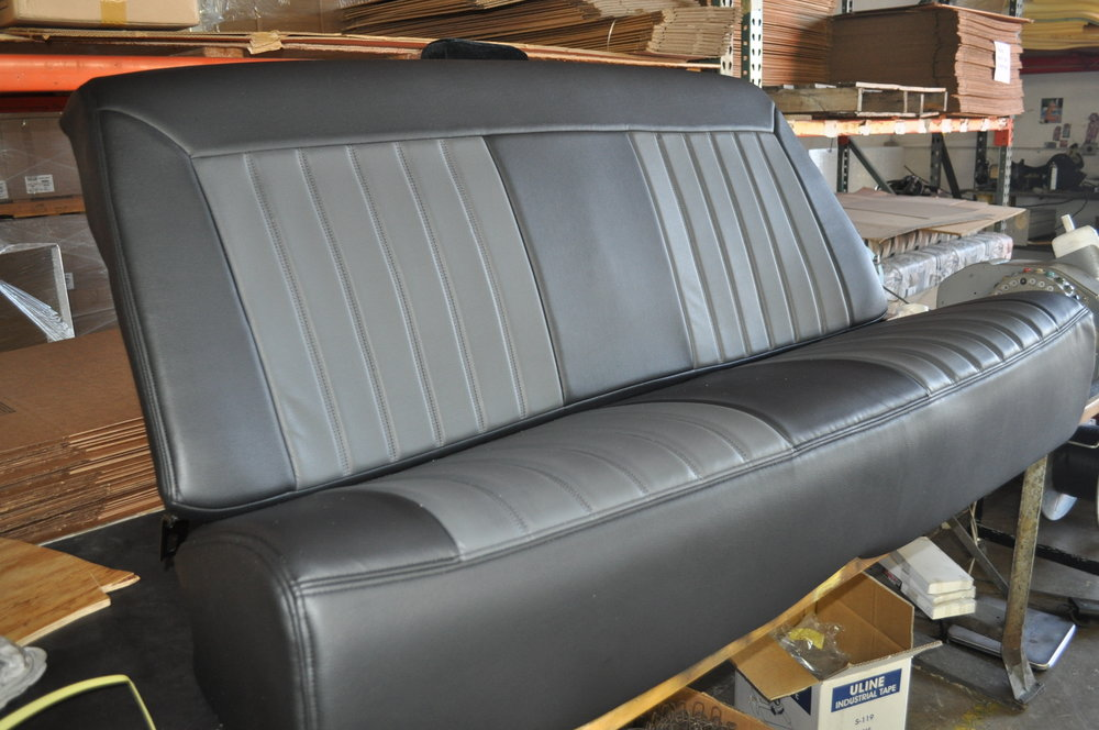 In the end, it all worked out and our customer was ecstatic.   We're dying to see the photos of everything installed.  Richard at Hot Rods & Custom Stuff in Escondido made custom mounting brackets to install her front seats.  Thanks to everyone involved.  Great project.