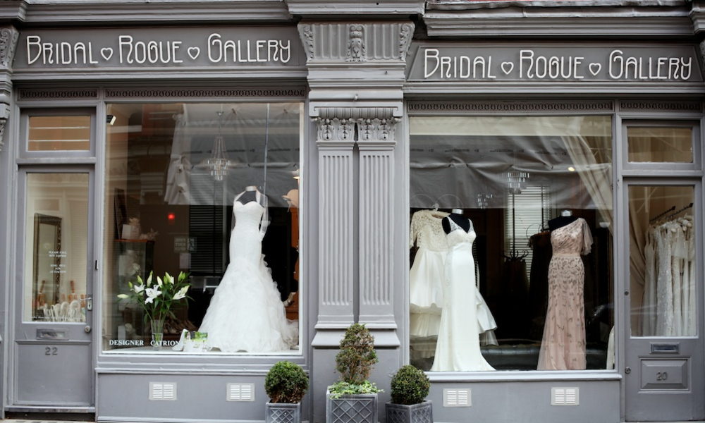 Our London boutique is found on Marylebone's iconic Chiltern Street; a striking red bricked stretch of chic boutiques (such as our own!), with plenty of gorgeous cafe's and restaurants where future brides can mull over their decision and take in the street's stunning Victorian Gothic architecture.