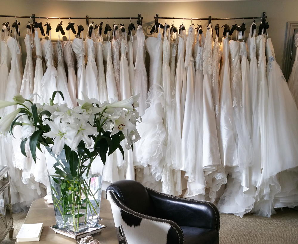 *It is always necessary to make an appointment to view and try on our wedding dresses. Please  contact us  to book your appointment today!