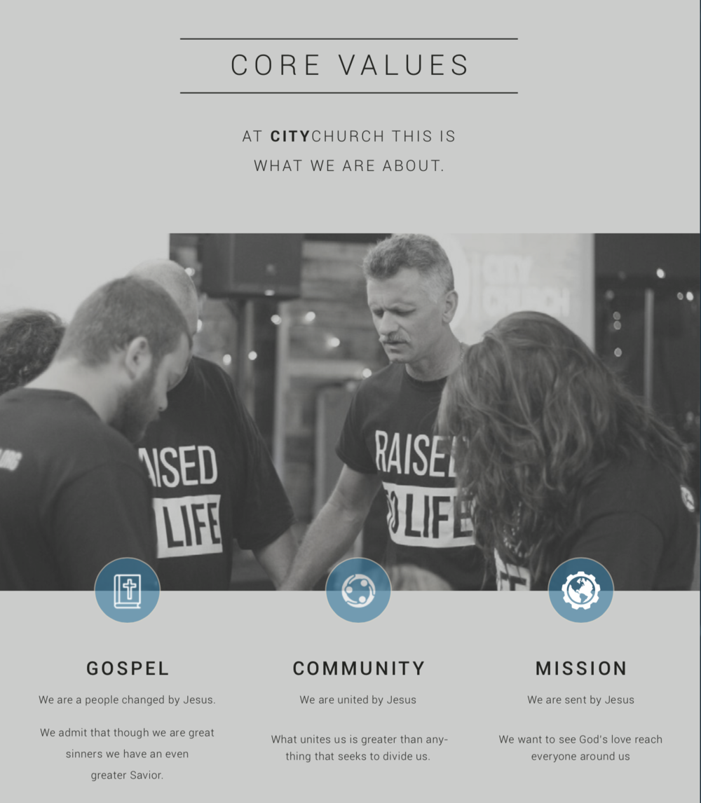 Our weekly updates are designed around our core values.