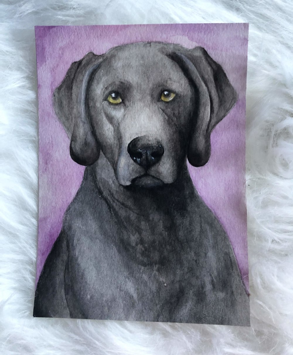 Luna in watercolor