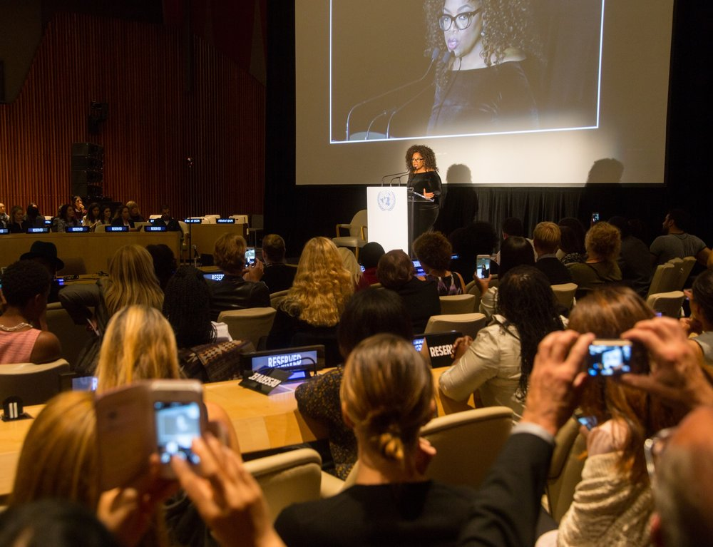 "A Global Brain Event at the United Nations: Oprah Winfrey ""BELIEF"""