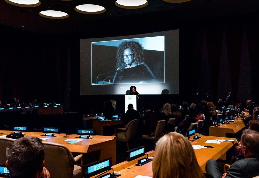 "Oprah Winfrey ""Believe "" Screening                  Q&A - United Nations"