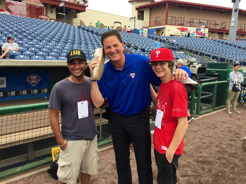 Ty and Muneesh with MLB Network analyst and former MLB pitcher Dan Plesac.