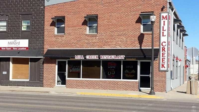 Located on the NE Corner of Hwy 71 & 9th St. in Milford, IA  DINE IN OR CARRY OUT