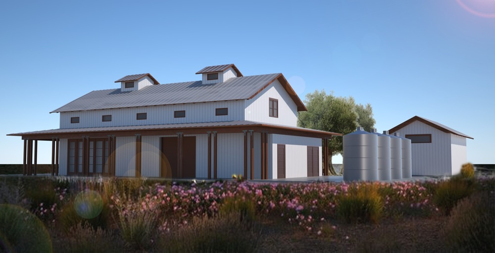 Wine Production and Tasting Facility - Edna Valley - San Luis Obispo, CA  Rendering by Compass Property Group.