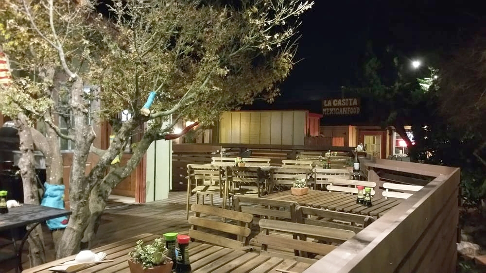 New exterior deck and dining patio - Kuma Sushi, Los Osos, CA