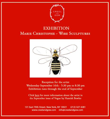 Marie Christophe NY exhibition - September 2015