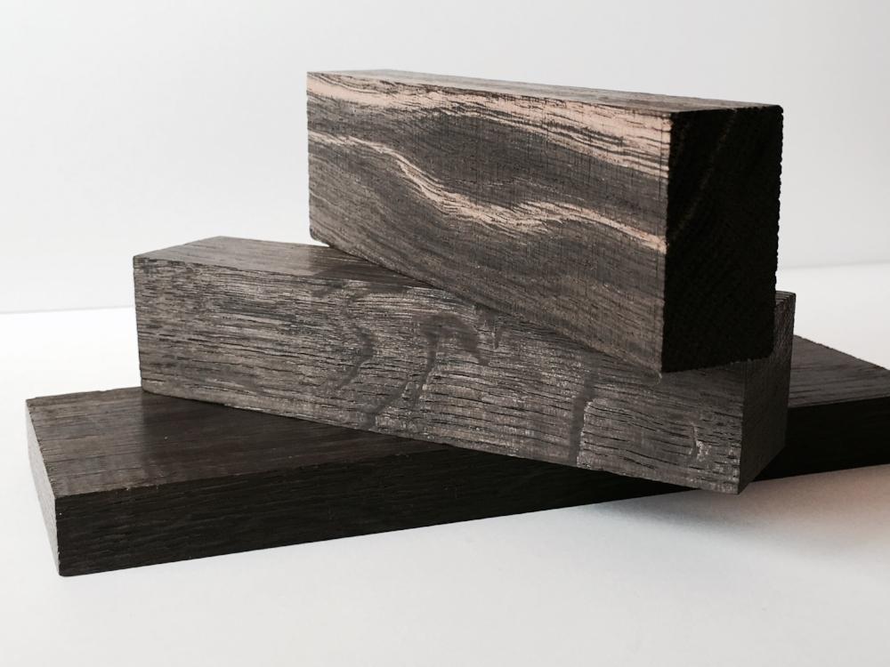 Bog oak block carbon dated at 2,500 years