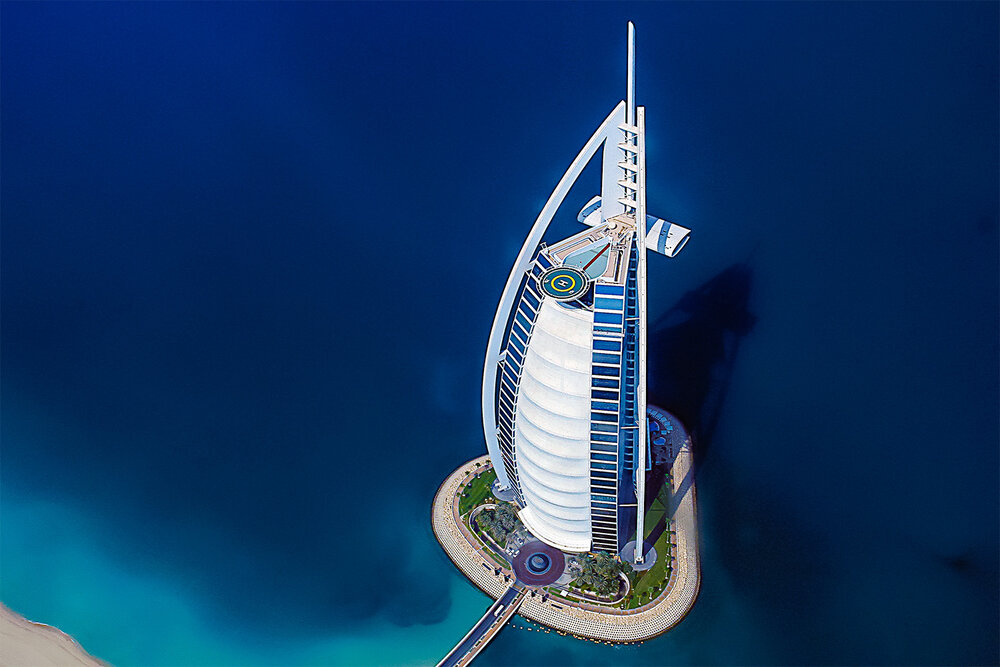 Burj al Arab from Above