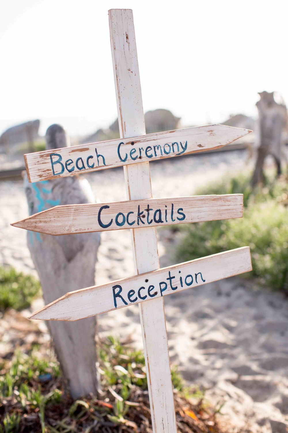Beach Directional Sign