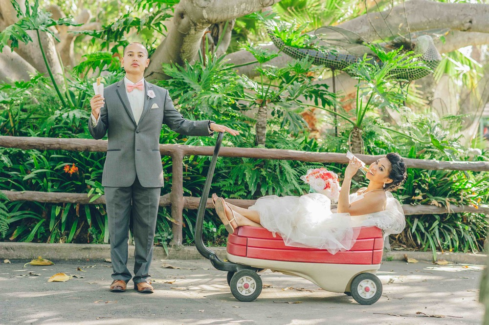 ELIZA AND RANDELL'S WEDDING AT THE SANTA BARBARA ZOO - PHOTOGRAPHY BY WESTON NEUSHAFER