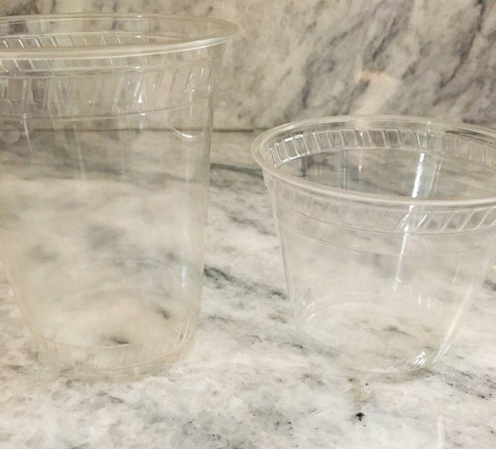 16oz and 9oz clear cups -