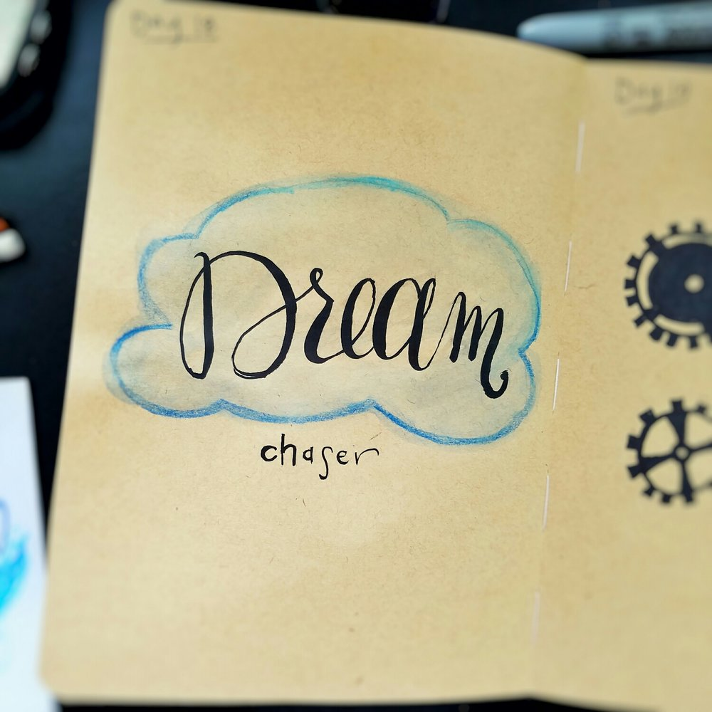 Day 18: Dream Chaser (lettering)