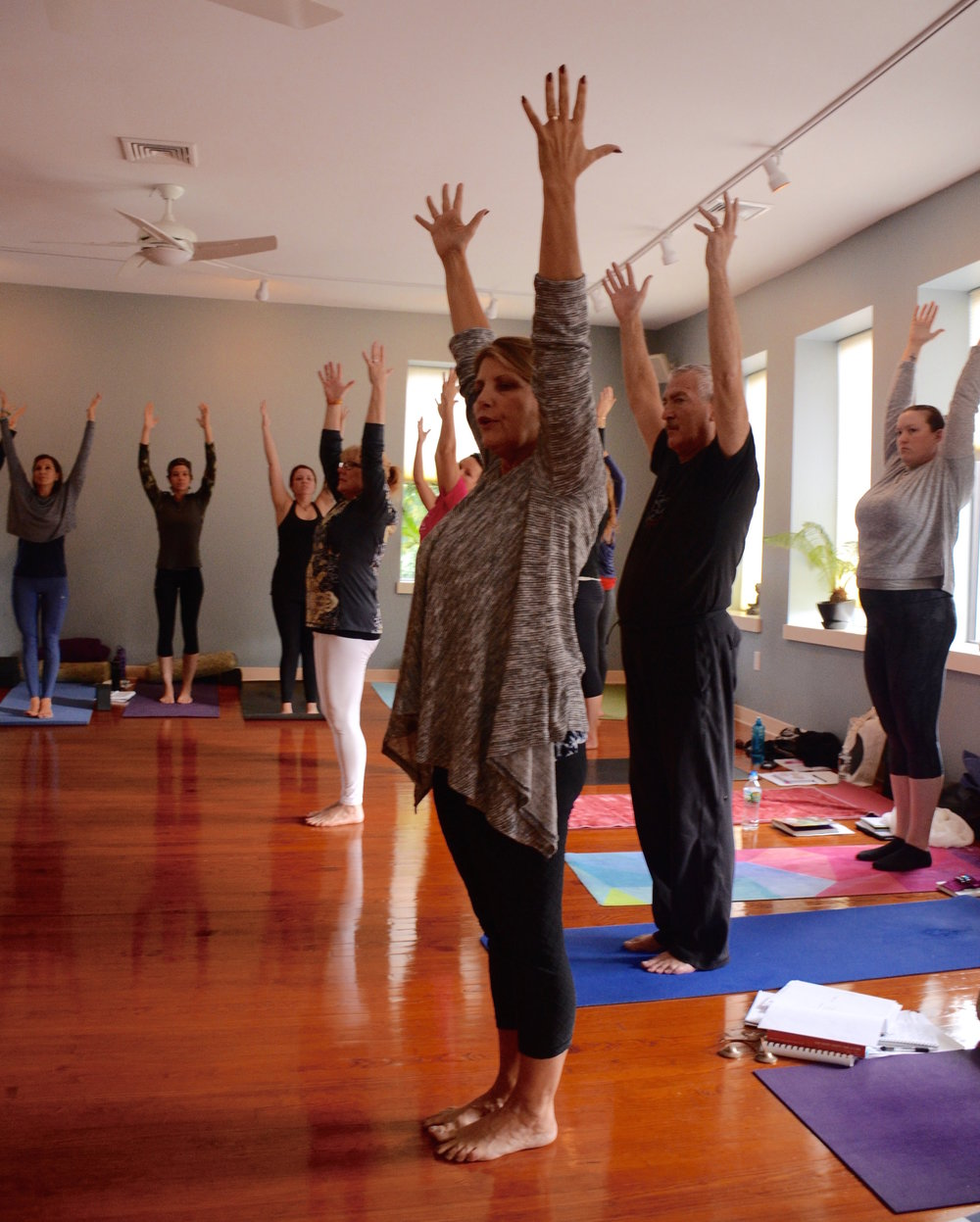 Colleen leads a group through a trauma-sensitive, mindfulness-based yoga class during one of TYP's trainings. The next training that Colleen will lead is the weekend of June 1-3 in Philadelphia.  Learn more here