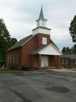 My church growing up. Tanners Grove UMC. I used to sneak down to the basement and suck on sugar cubes...