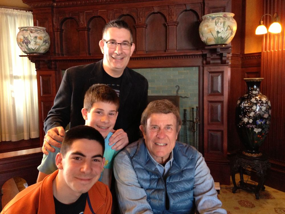 Scott, Max, and Jack with Cousin Brucie - Mohonk Mountain House - March, 2013