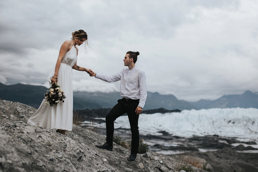 glacier wedding inspiration