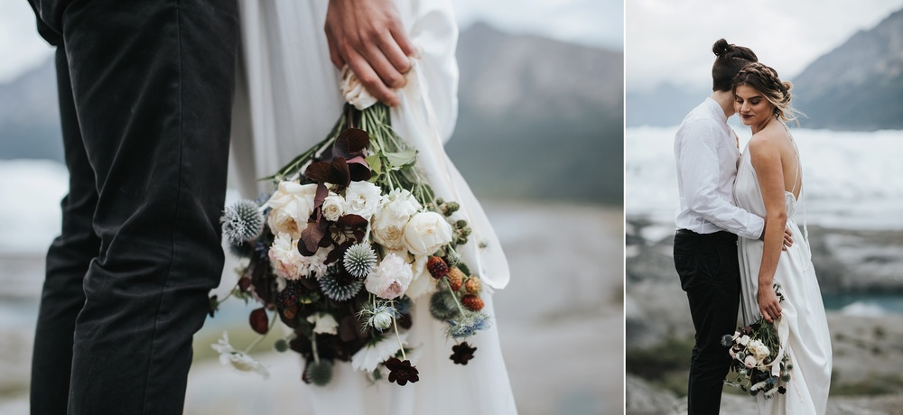 winter elopement bouquet