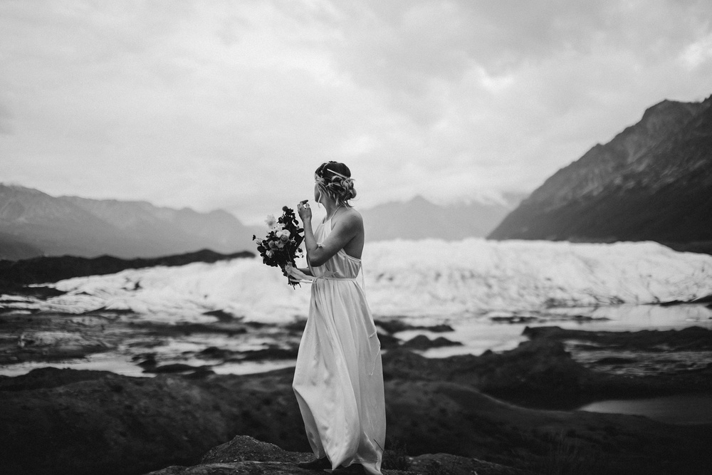 elopement at Matanuska Glacier