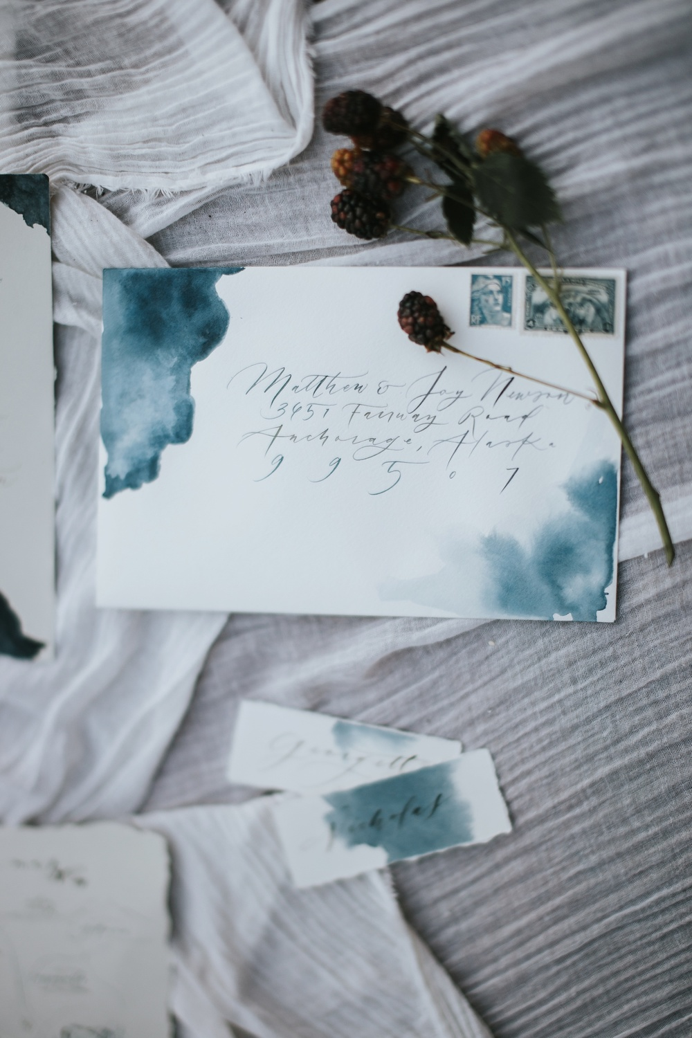 glacier wedding invitations