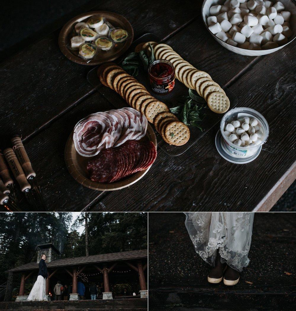 alaska camping wedding