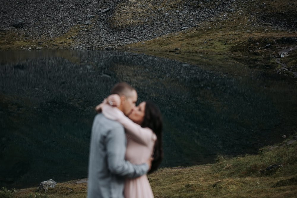 engagement at lake