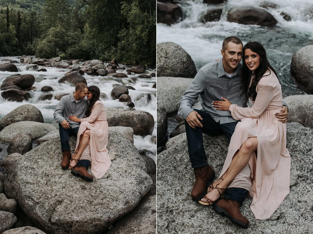 engagement by the river