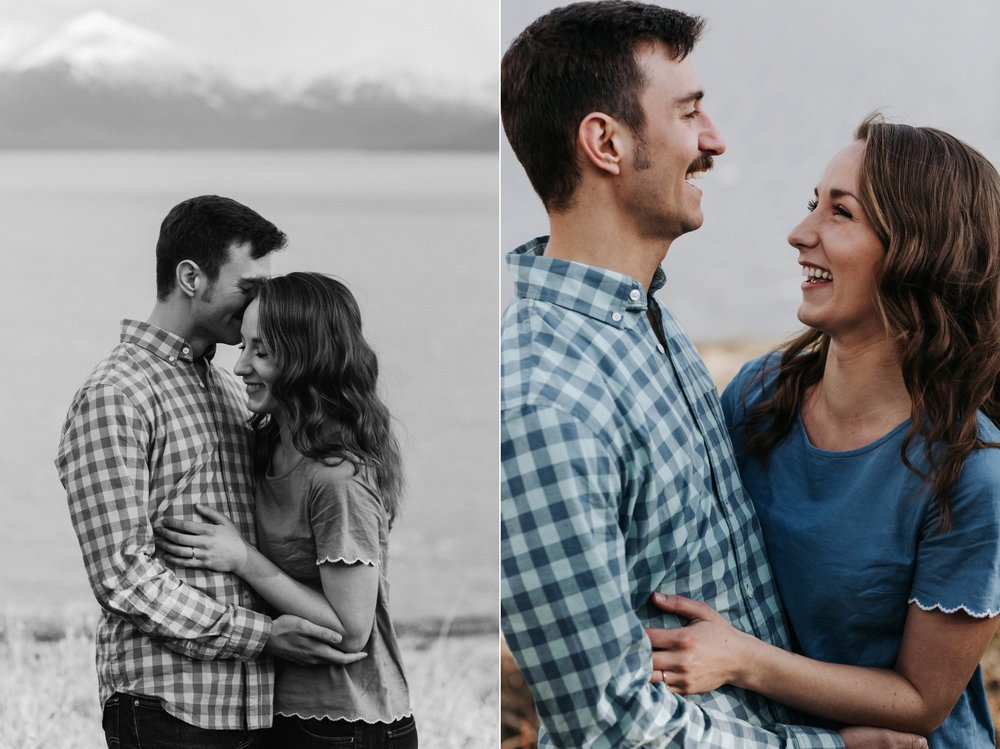 alaskan couple engagement