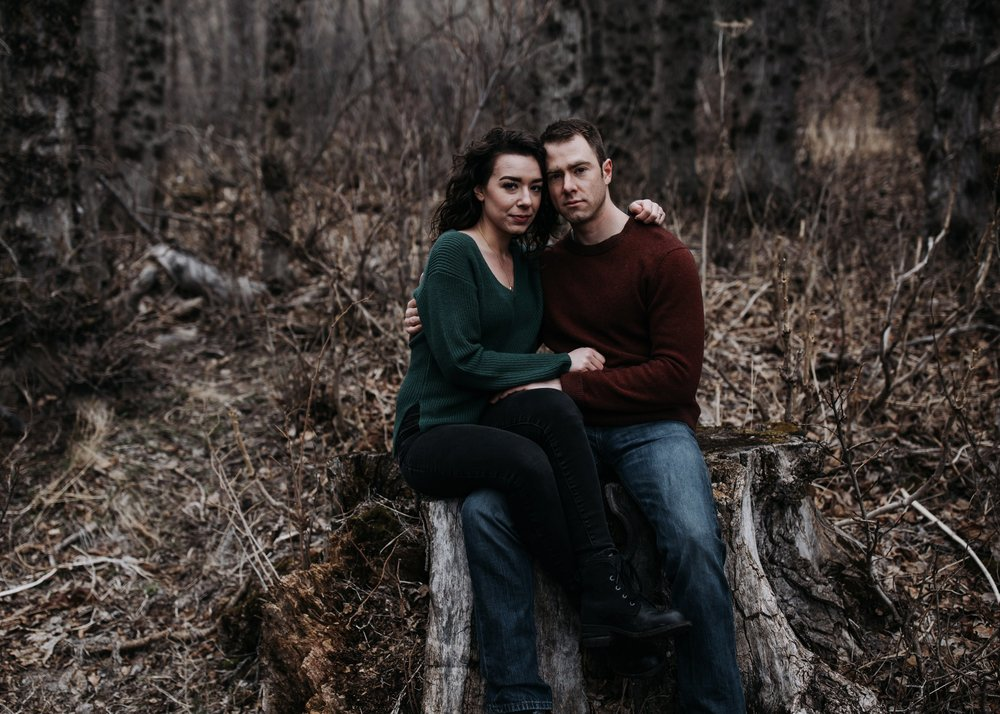forest engagement session in alaska